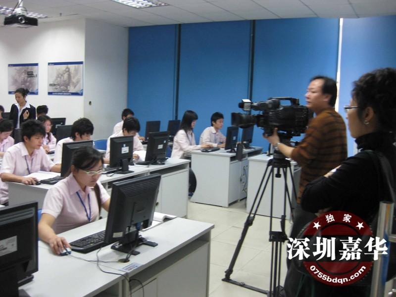 CCTV2摄制现场:嘉华学员上课
